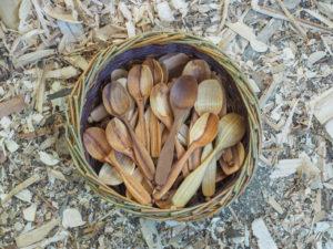 Basket of spoons