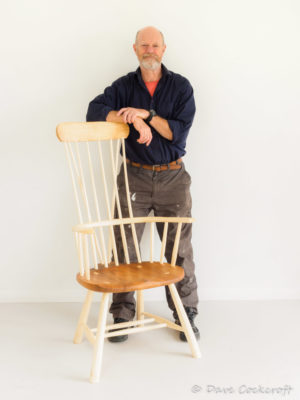 Dave Cockcroft and his Llangrannog armchair