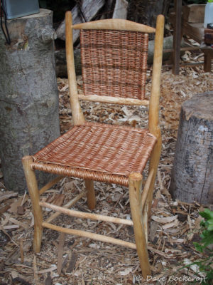 Freeform dining chair in birch and willow