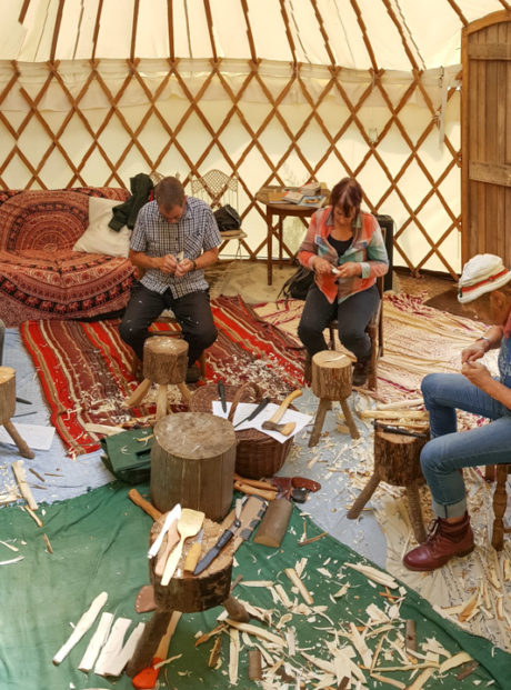 Learn to carve wooden spoons - in a yurt