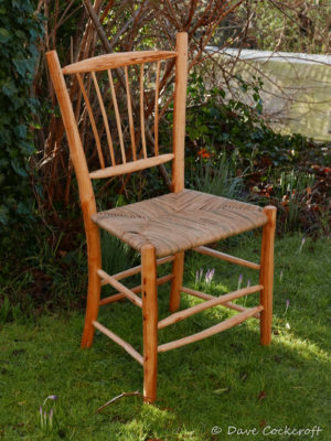 Freeform sidechair from crab apple