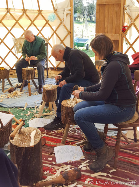 Learn to carve wooden spoons