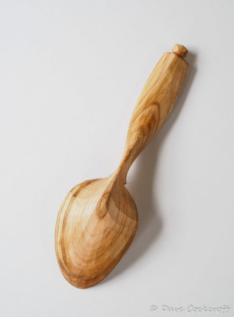 Cherry wood eating spoon #1 back