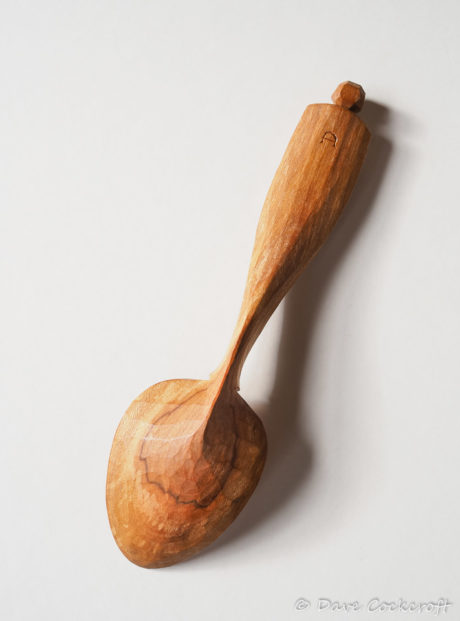 Spalted blackthorn pocket spoon #5 – back