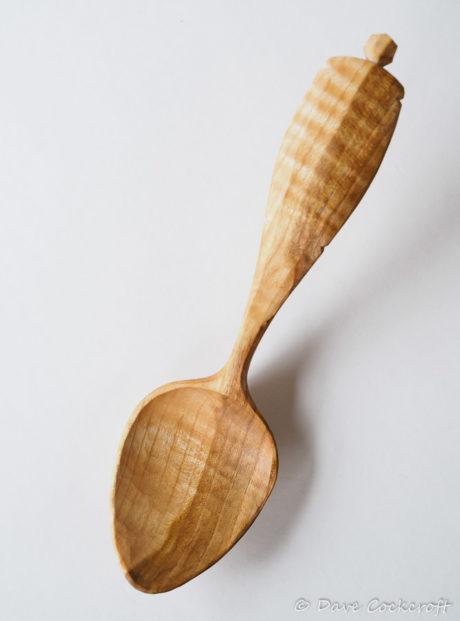 Bent blackthorn eating spoon #9