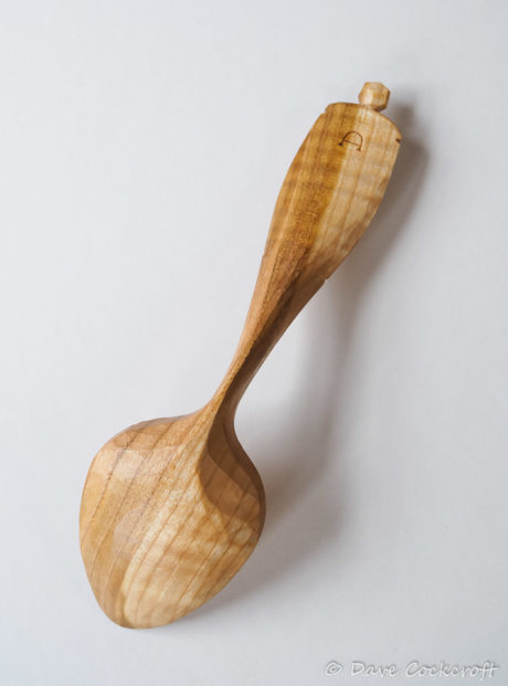 Bent blackthorn eating spoon #9 back