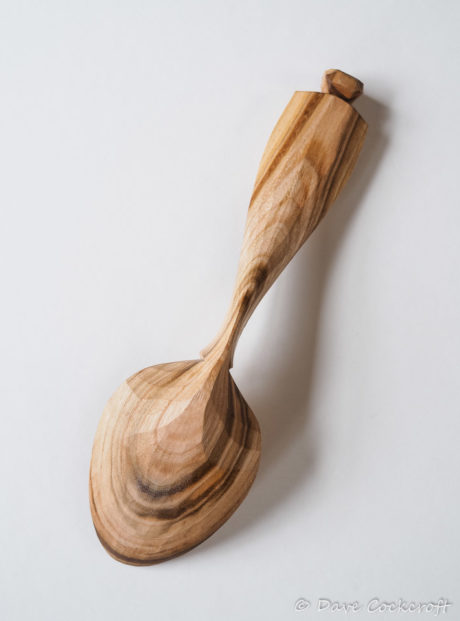 Cherry wood eating spoon #2 back
