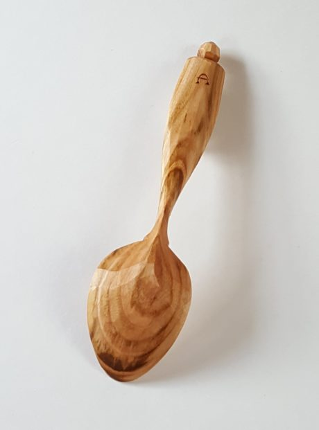 Dave Cockcroft cherry wood eating spoon #11