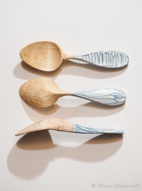 Seaspoon sycamore and milk paint eating spoon
