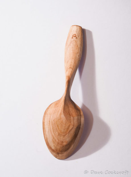 Cherry wood eating spoon #9