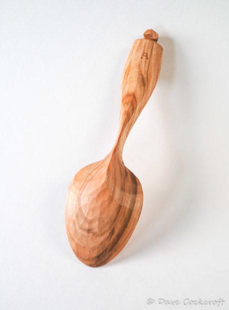 Cherry wood eating spoon #17