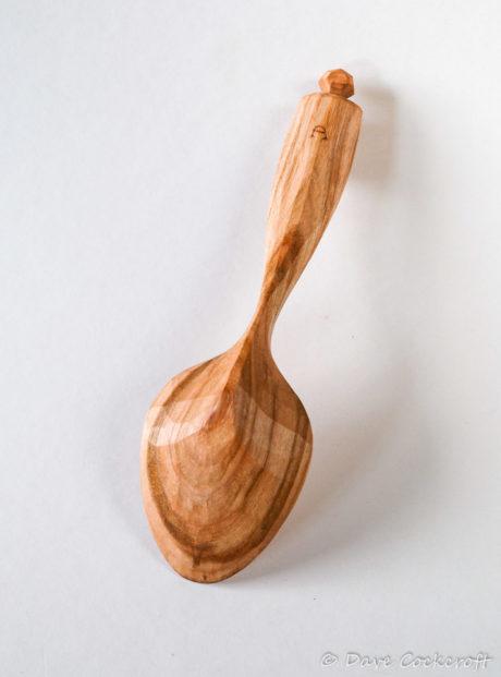 Cherry wood eating spoon #12