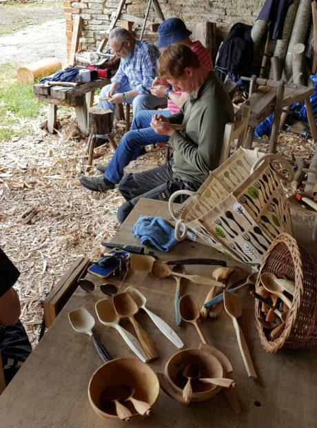 Spoon carving at The Woodyard