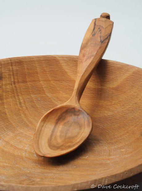 Cherry wood eating spoon
