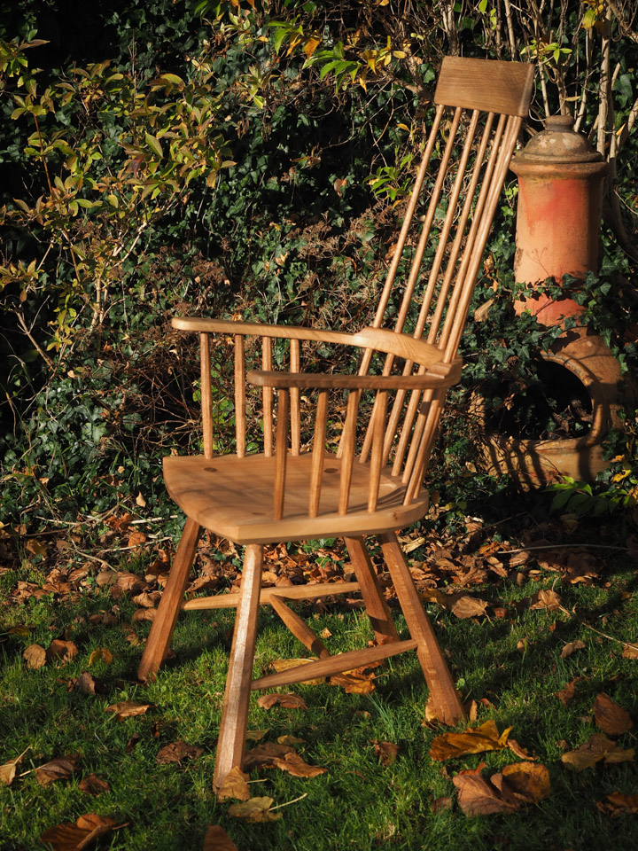 Welsh Stick Chair, Cardigan Armchair in elm and oak.